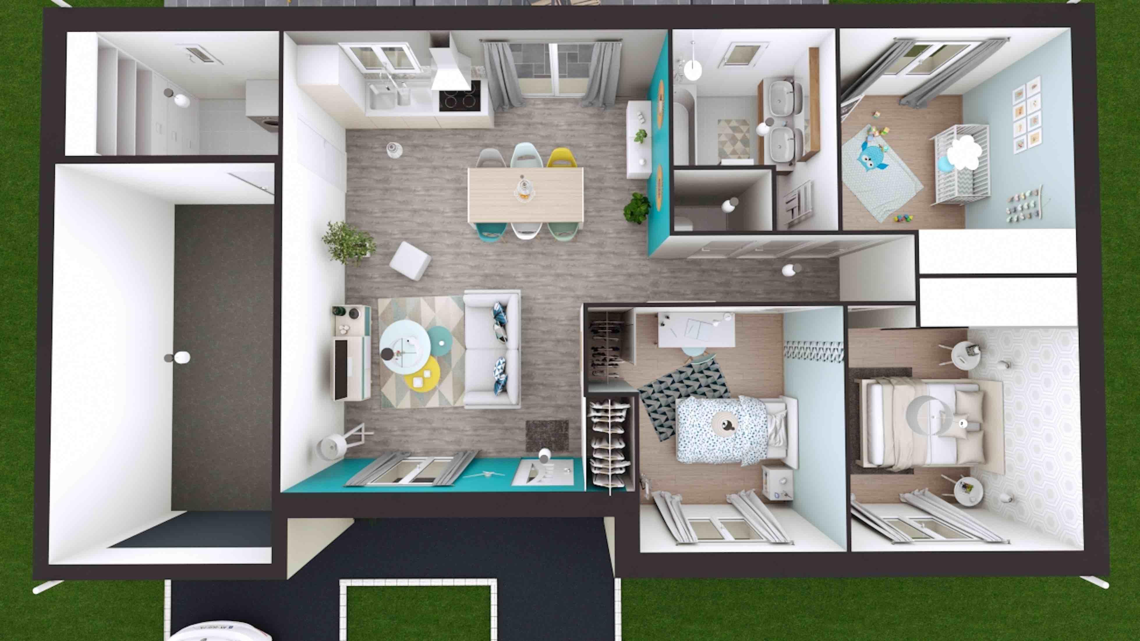 Plans de maisons construire maison laure - Plans de maisons modernes ...