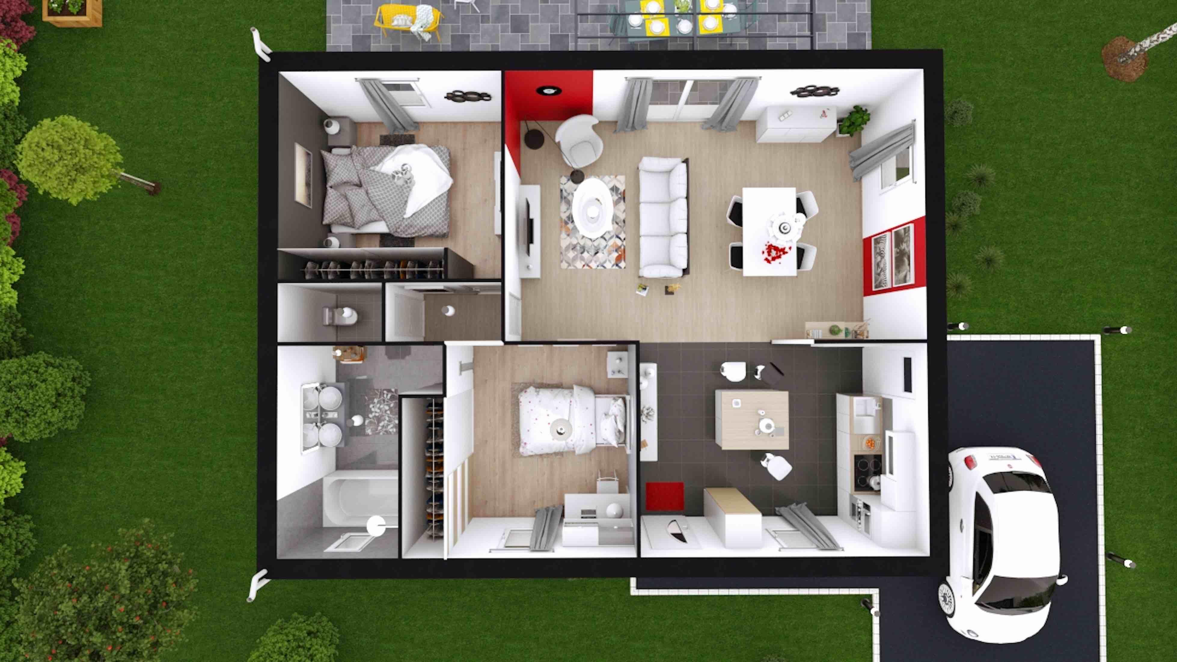 plans de maisons construire maison laure. Black Bedroom Furniture Sets. Home Design Ideas
