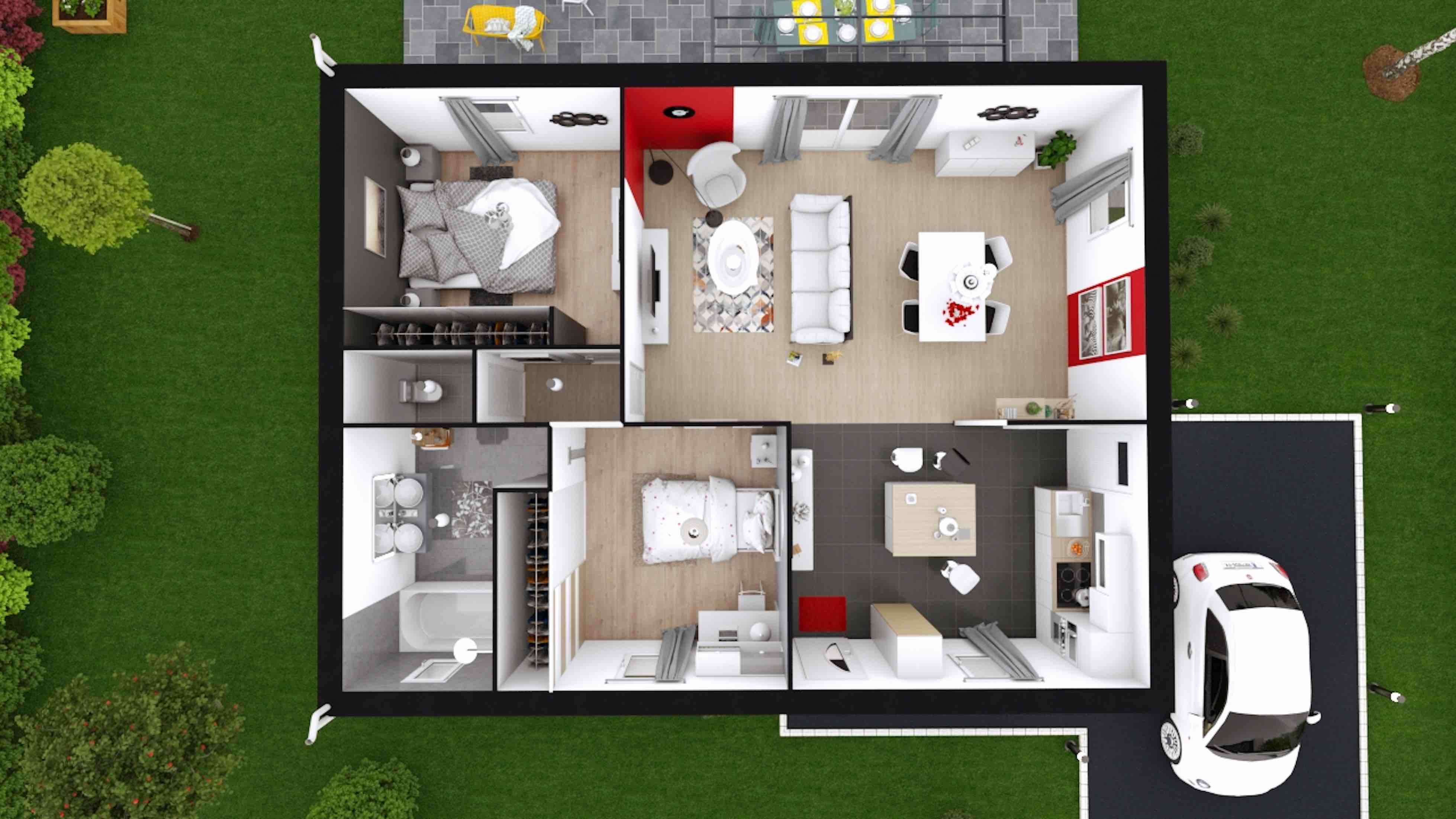 Plans de maisons construire maison laure - Photo de plan de maison ...