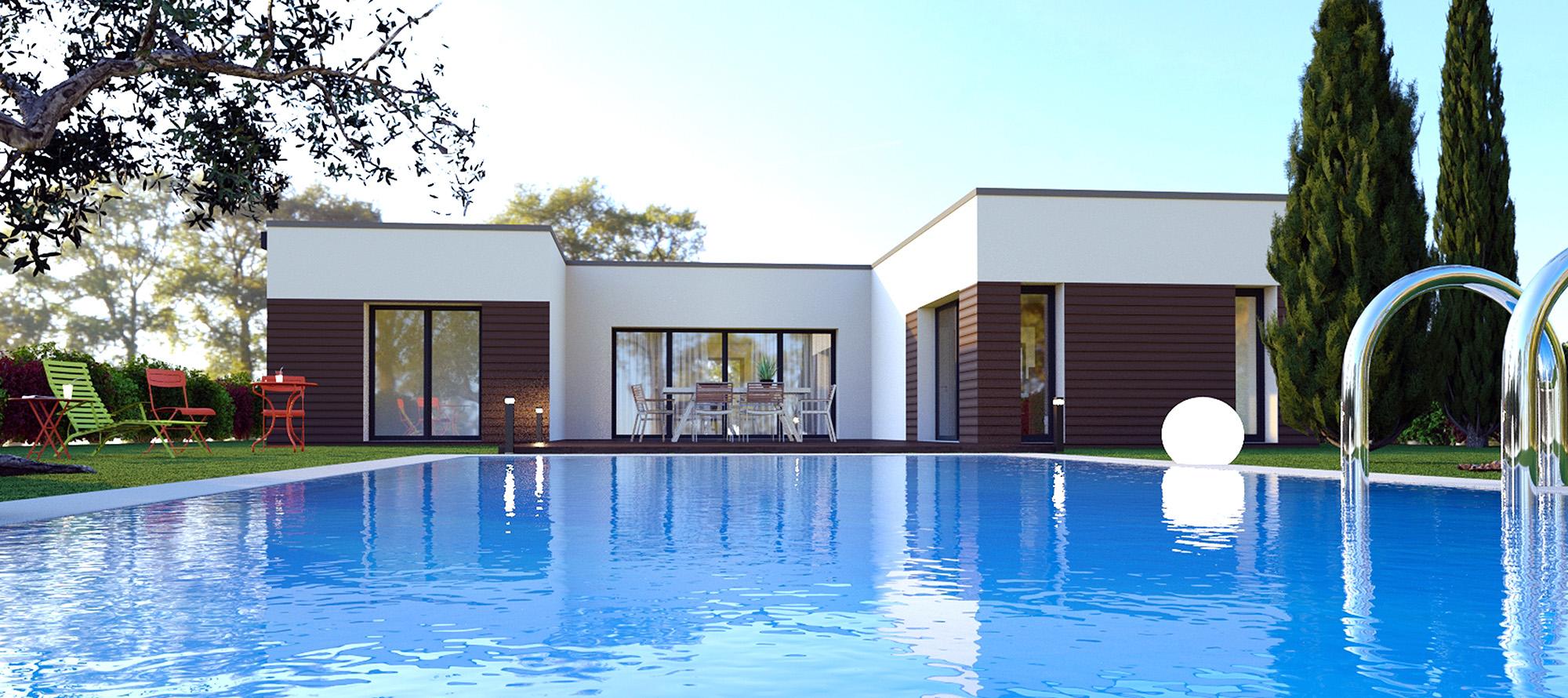 Maison Contemporaine Toit Terrasse villa contemporaine luxéa | maison laure