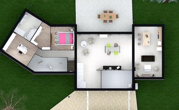 Plan maison contemporaine Isis